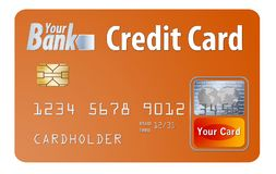 Generic credit or debit card isolated on white stock illustration