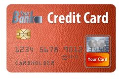 Generic credit or debit card isolated on white. Here is a generic bank card. Can be credit card or debit card. It is isolated on the background and had generic vector illustration