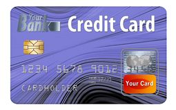 Generic credit or debit card isolated on white. Here is a generic bank card. Can be credit card or debit card. It is isolated on the background and had generic royalty free illustration