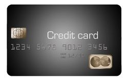 Here is a generic credit card or debit card in an illustration. Illustration stock illustration