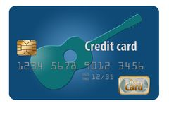 Here is a generic credit card or debit card in an illustration. Illustration vector illustration