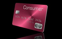 Here is a generic credit card or debit card in an illustration. Illustration royalty free illustration