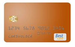 Here is a generic credit card isolated on al white background. Logos and type are generic royalty free illustration
