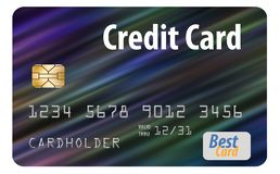 Here is a generic credit card isolated on al white background. Logos and type are generic stock illustration