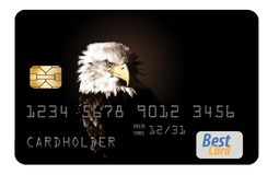 Here is a generic credit card isolated on al white background. Logos and type are generic vector illustration