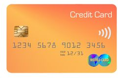 Here is a generic credit card isolated on the background. Illustration royalty free illustration