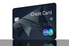 Here is a generic credit card isolated on the background. Illustration vector illustration
