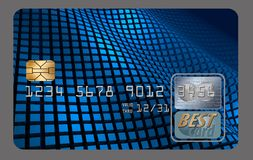 Here is a generic credit card isolated on a white background. Illustration royalty free illustration