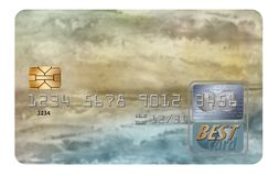 Here is a generic credit card isolated on a white background. Illustration vector illustration
