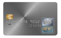 Here is a generic credit card isolated on a white background. Illustration stock illustration