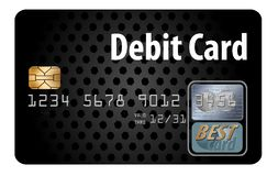 Here is a generic debit card isolated on a white background. Illustration vector illustration