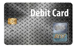 Here is a generic debit card isolated on a white background. Illustration royalty free illustration