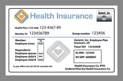 Here is a generic medical insurance, healthcare insurance royalty free illustration