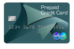 Here is a generic prepaid credit card isolated on the background. Illustration royalty free illustration