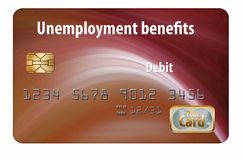 Here is a generic unemployment benefits debit card. It is isolated on white background vector illustration