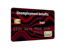 Here is a generic unemployment benefits debit card. It is isolated on white background royalty free illustration