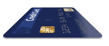 Here is a good view of an EMV chip on a credit card. vector illustration