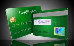 Here is a good view of a security hologram on a credit card. vector illustration