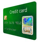 Here is a good view of a security hologram on a credit card. royalty free illustration