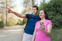 Here is the hiker trail Stock Image