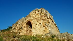 Miletus Ancient City Theater Gate stock images
