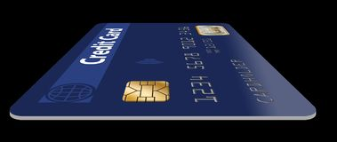 Free Here Is A Good View Of An EMV Chip On A Credit Card. Stock Photo - 125483090