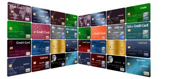 Free Here Is A Grouping Of Generic Credit Cards In A Designed Pattern. Royalty Free Stock Photo - 125300605