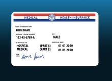 Free Here Is A Mock, Generic, 2020 Medicare Health Insurance Card. Stock Images - 159051114