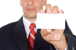 Free Here Is My Card Stock Image - 5813791