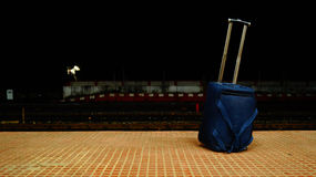 Luggage Bag in a station Royalty Free Stock Images