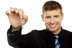 Here is the key to your new chamber Royalty Free Stock Photography