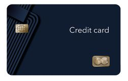 Here is a modern credit card that is a mock with generic logo. This is an illustration vector illustration
