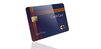 Here is a modern credit card that is a mock with generic logo. This is an illustration royalty free illustration