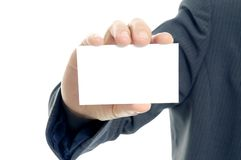 Hand Holding Blank Card royalty free stock images