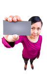Here is my card! Stock Image