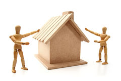 Here is a new house Royalty Free Stock Photography