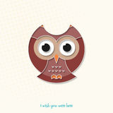 Here owl Royalty Free Stock Image
