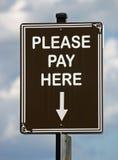 here pay sign Στοκ φωτογραφία με δικαίωμα ελεύθερης χρήσης