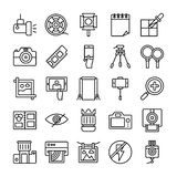 Photography and Graphics Line Icons Set vector illustration