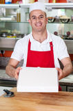 Here is the pizza you ordered! Royalty Free Stock Image