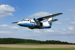 Here is the plane used for parachuting Royalty Free Stock Photography