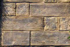 Original wooden pedestrian walkway royalty free stock image