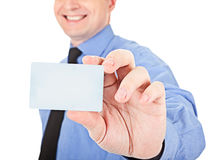 Here's a card Royalty Free Stock Images