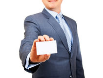 Here's my business card Stock Images