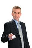 Here's my card Royalty Free Stock Photography