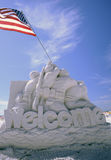 Here's to The Heroes Sand Sculpture Royalty Free Stock Photos