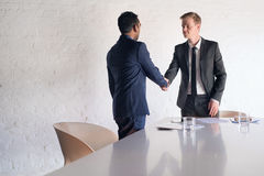 Here's to a new successful partnership stock photo
