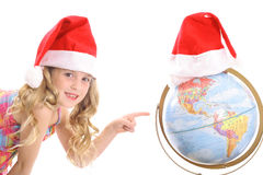 Here is Santa's Christmas eve route Stock Photography