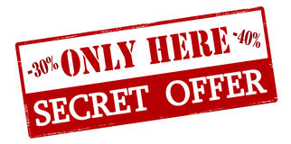 Only here secret offer Royalty Free Stock Image