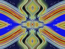 Glowing esoteric symmetrical moving pattern royalty free illustration